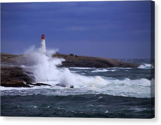 Hurricane Arthur 2014 Hits Peggy's Cove Canvas Print