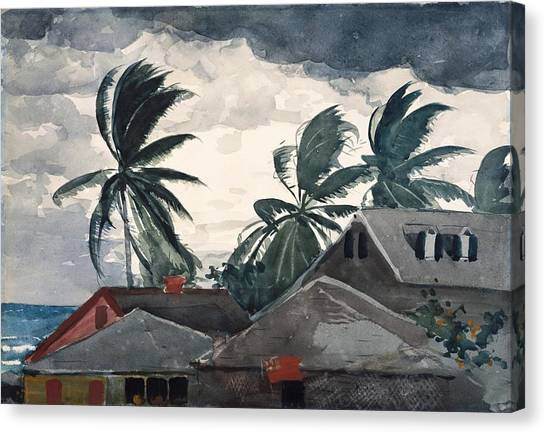 Hurricanes Canvas Print - Hurricane Bahamas by Winslow Homer