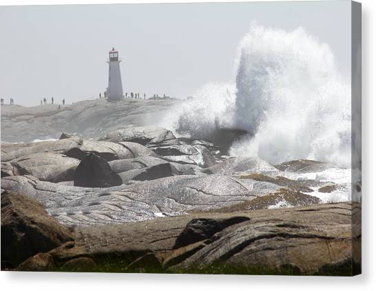 Hurricane Irene At Peggy's Cove Nova Scotia Canada Canvas Print