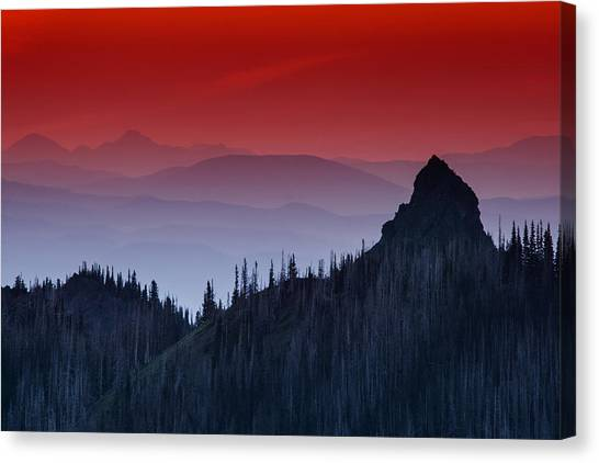 Cloud Forests Canvas Print - Hurricane Ridge Sunset Vista by Mark Kiver