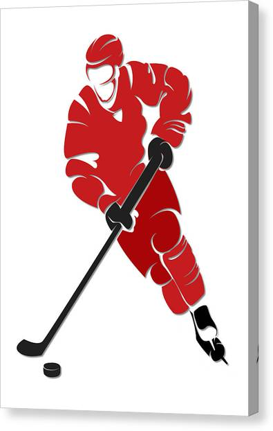 Carolina Hurricanes Canvas Print - Hurricanes Shadow Player by Joe Hamilton