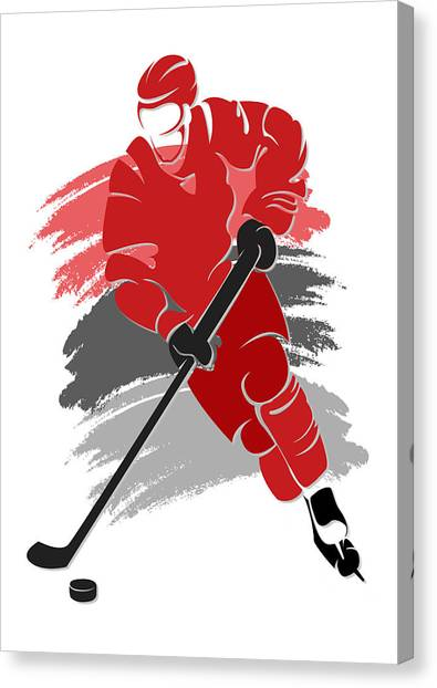 Carolina Hurricanes Canvas Print - Hurricanes Shadow Player2 by Joe Hamilton