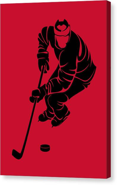 Carolina Hurricanes Canvas Print - Hurricanes Shadow Player3 by Joe Hamilton