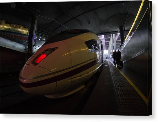 Bullet Trains Canvas Print - Hurry Up by Pablo Lopez