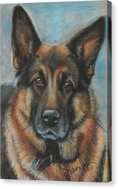 Hussler-german Shepherd Dog Canvas Print
