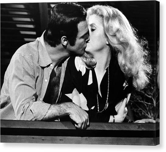 Burt Reynolds Canvas Print - Hustle  by Silver Screen