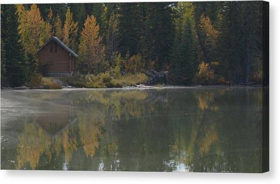Hut By The Lake Canvas Print