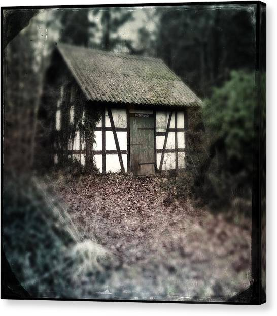 Barns Canvas Print - Hut In The Forest - Nature Park Schoenbuch Germany by Matthias Hauser