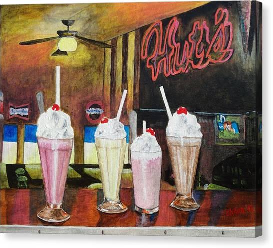 Hut's Milkshake Heaven Canvas Print