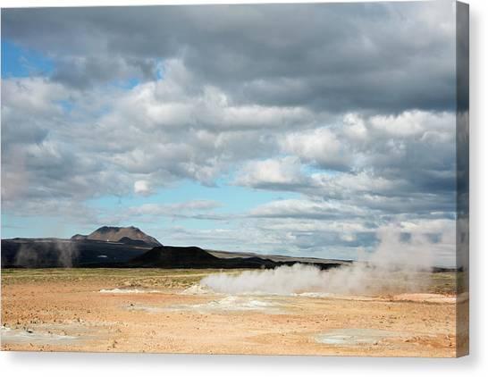 Bishop Hill Canvas Print - Hverir Geothermal Site, Iceland by Sue Bishop