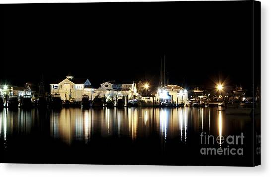 Hyannis At Night Canvas Print