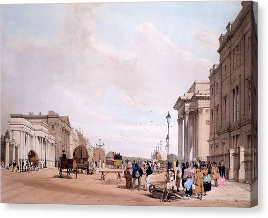 Hyde Park Canvas Print - Hyde Park Corner, Looking by Thomas Shotter Boys