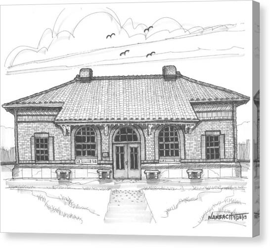 Hyde Park Historic Train Station Canvas Print
