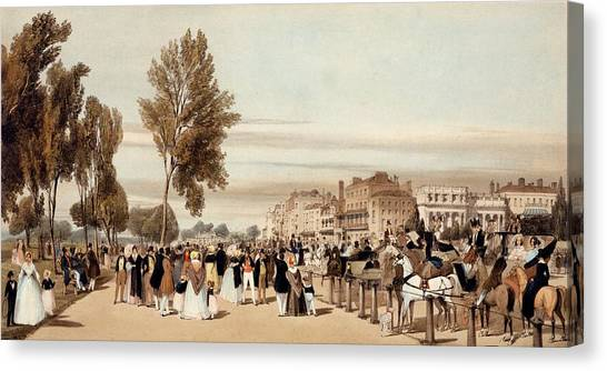 Hyde Park Canvas Print - Hyde Park, Towards The Grosvenor Gate by Thomas Shotter Boys