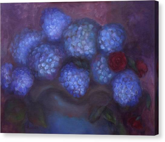 Hydrangeas Canvas Print by Susan Hanlon