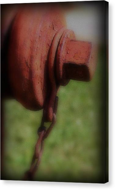 Canvas Print featuring the photograph Hydrant by Kelly Hazel