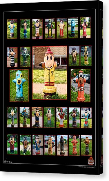 Hydrants Canvas Print by Mitchell Brown