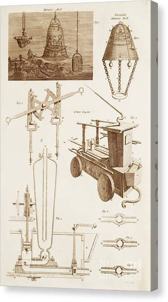 Diving Bell Canvas Print - Hydraulics And Hydrostatics by David Parker