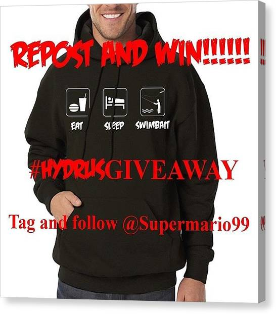 Canvas Print - Hydrus Baits First Giveaway!!!!!! by Super Mario