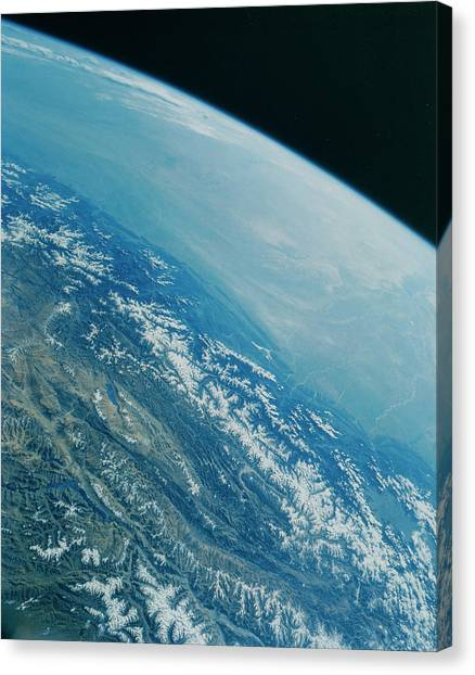 Himalayas Canvas Print - Hymalayas From Space Shuttle by Credit Nasa/science Photo Library