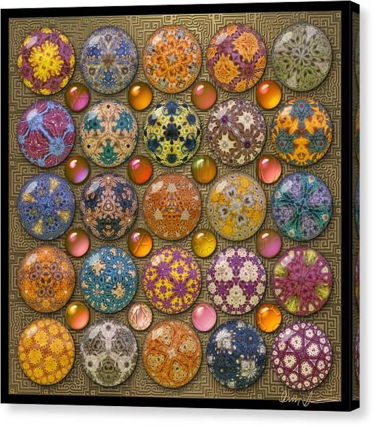Hyperbolicrochet Kaleidoscope Quilt Canvas Print
