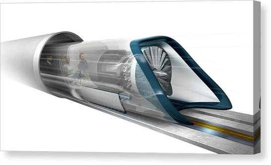 Future Tech Canvas Print - Hyperloop Transport by Claus Lunau