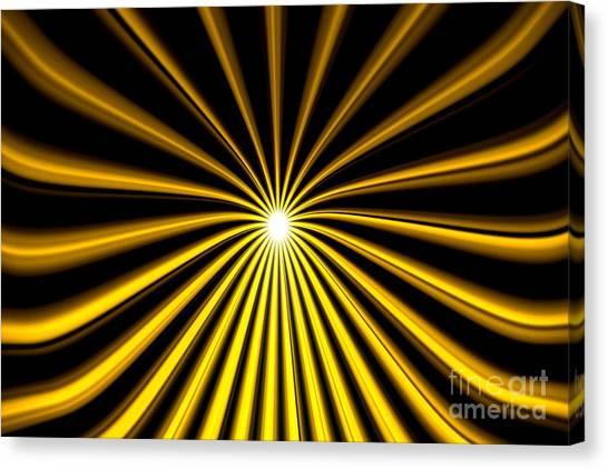 Hyperspace Gold Landscape Canvas Print