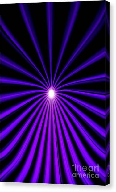 Hyperspace Violet Portrait Canvas Print