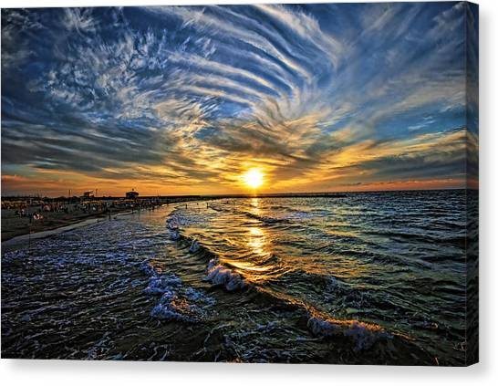 Hypnotic Sunset At Israel Canvas Print