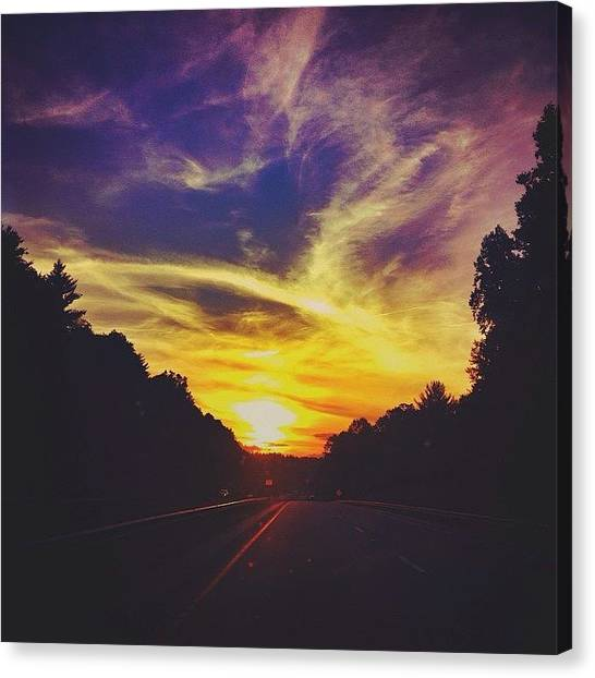 Appalachian Mountains Canvas Print - Into The Sun by Simon Nauert