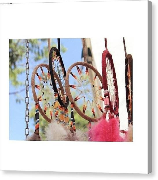 Jamaican Canvas Print - I Actually Love Dreamcatchers🌞 #love by Mae Simms