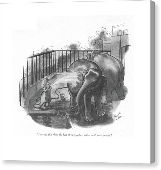 Keeper Canvas Print - I Always Give Them The Best Of Care by Richard Decker