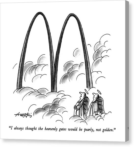 Fast Food Canvas Print - I Always Thought The Heavenly Gates by Henry Martin