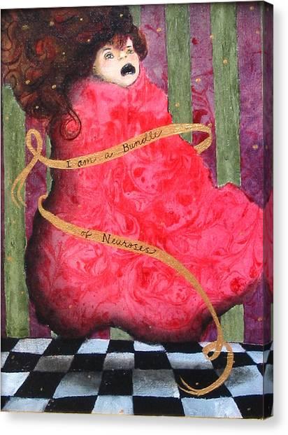 I Am A Bundle Of Neuroses Canvas Print by Pauline Lim