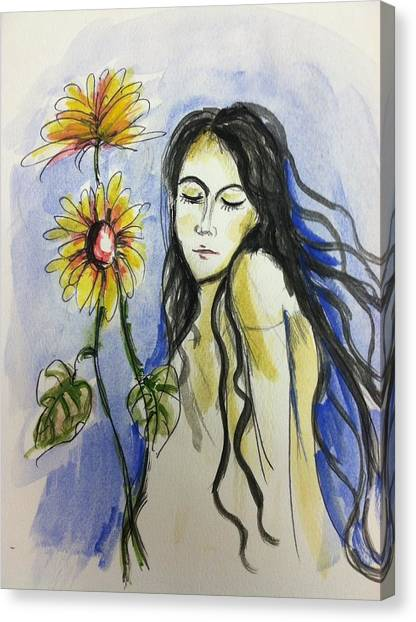 I Am A Girl  Canvas Print