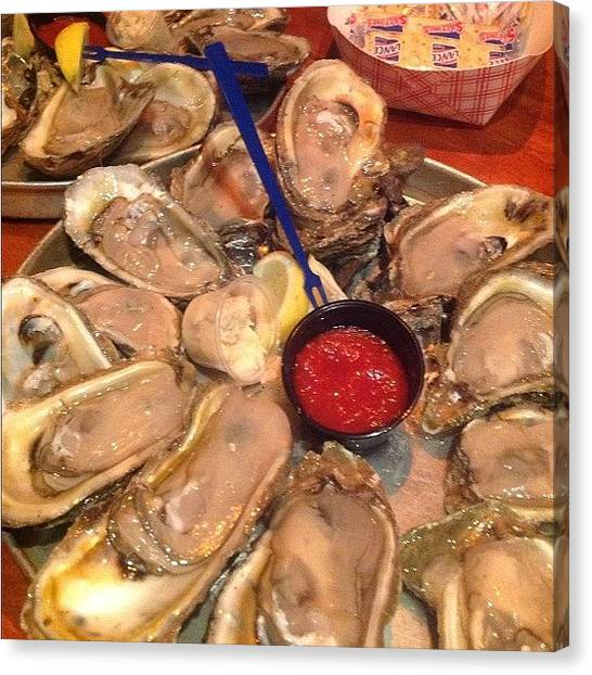 Oysters Canvas Print - I Am A Happy Woman...so Good! by Linda Christiansen