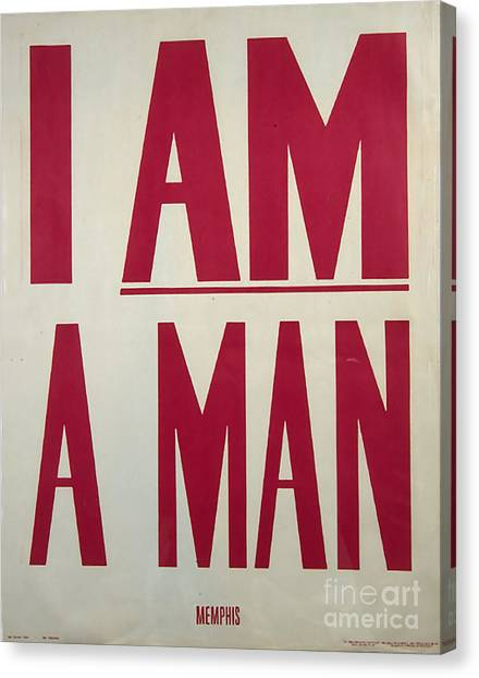 I Am A Man Canvas Print by Baltzgar