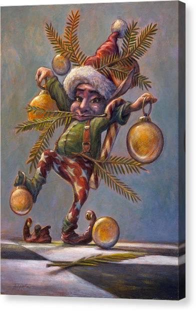 I Am A Tree Canvas Print by Leonard Filgate