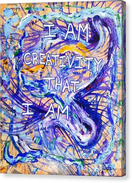 I Am Creativity Canvas Print