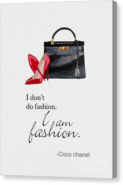 Chanel Canvas Print - I Am Fashion by Rebecca Jenkins
