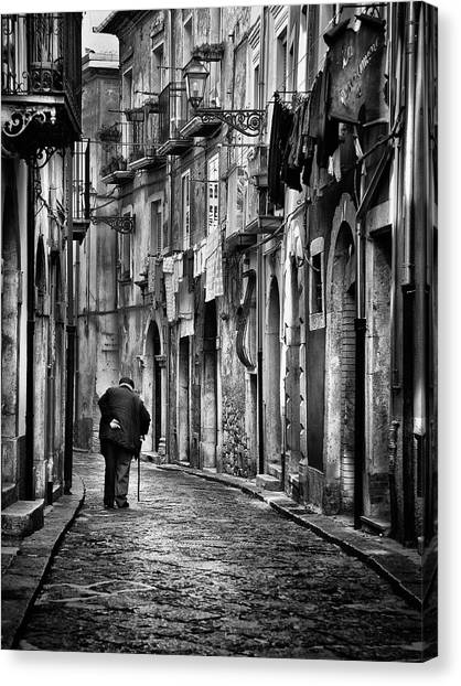 Street Canvas Print - I Am... by Gennaro Parricelli