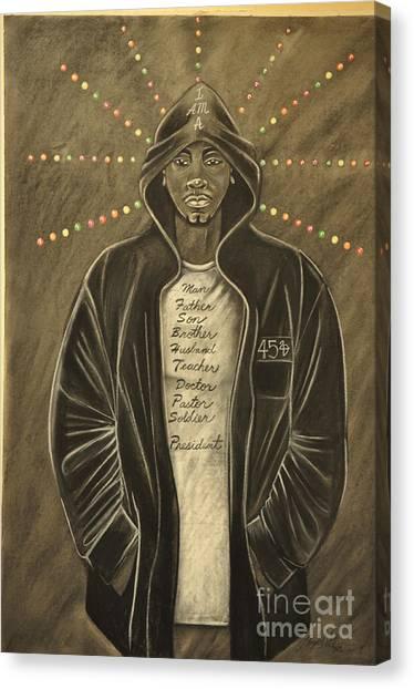 Hoodie Canvas Print - I Am by Lloyd  Wade
