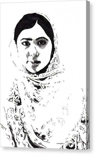 I Am Malala. Canvas Print