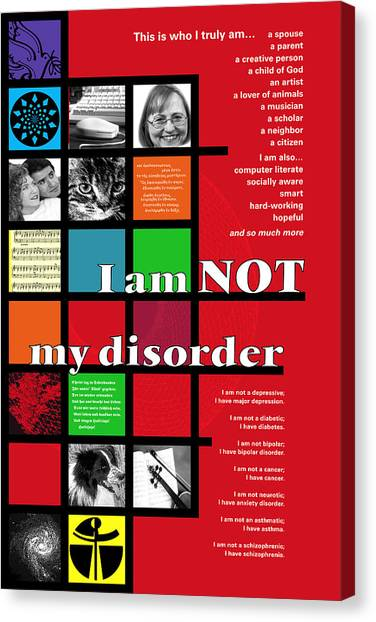 I Am Not My Disorder Canvas Print