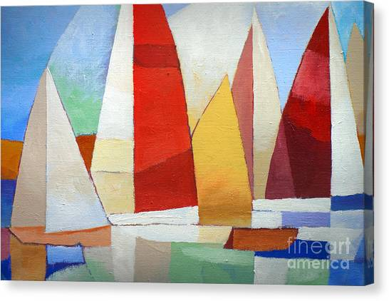 I Am Sailing Canvas Print