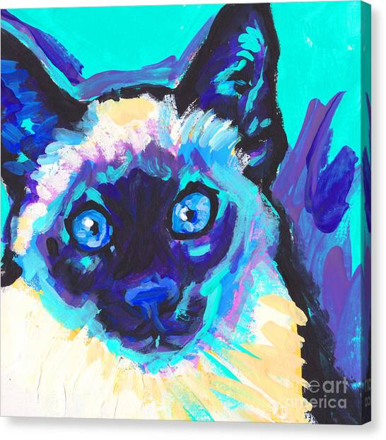 Siamese Canvas Print - I Am Siamese by Lea S
