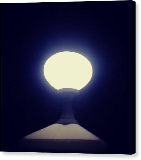 I Phone Canvas Print - I Am The Light #lamp #love #light by Veronica Lopulalan