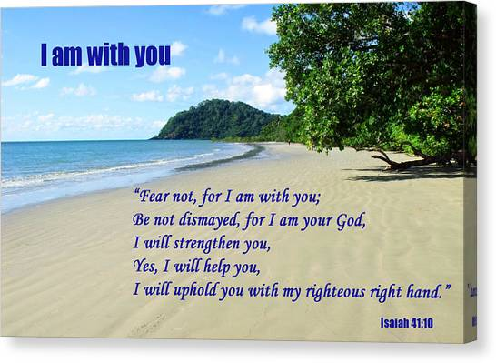 I Am With You Beach Scene Canvas Print