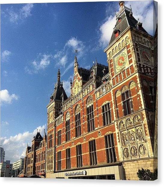 Japanese Canvas Print - I Arrived In #amsterdam #station From by Ryoji Japan