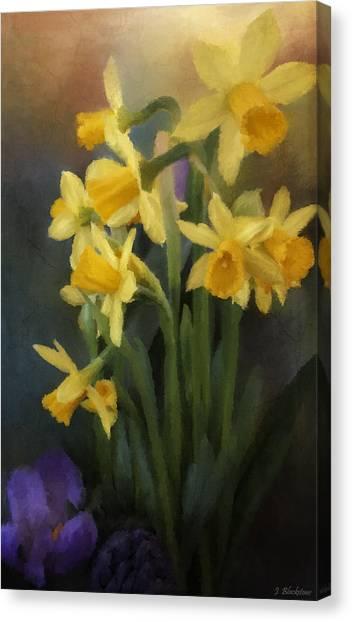 I Believe - Flower Art Canvas Print